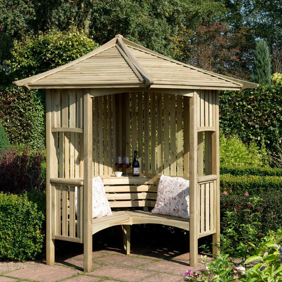 Blooma Softwood Corner Arbour B Q For All Your Home And Garden