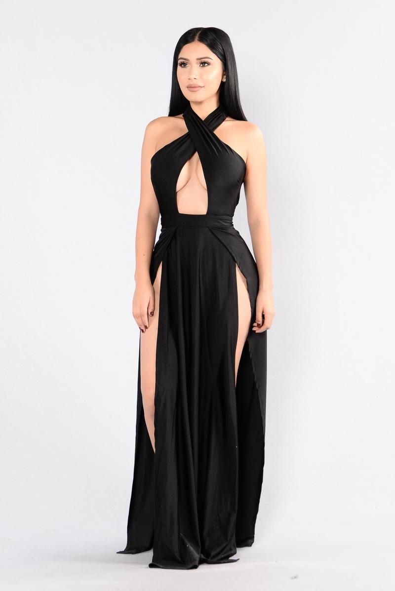 Curve Appeal Dress Black Fashion Nova Dress Fashion Nova Outfits Fashion Dresses [ 1197 x 800 Pixel ]