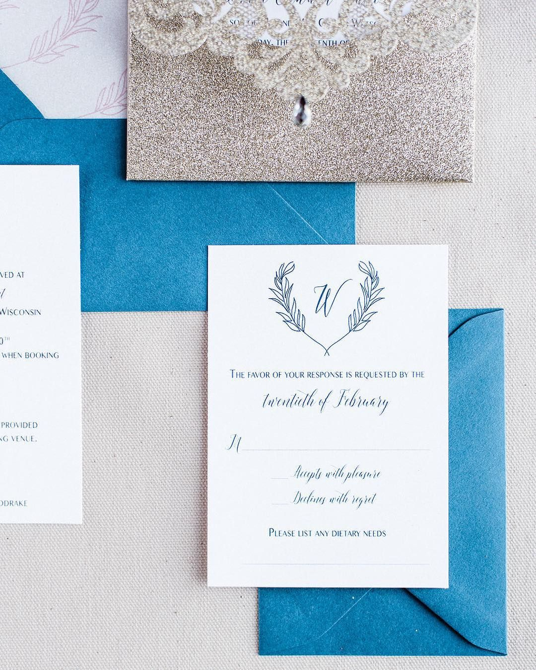 Tip Tuesday Rsvp Date When Should You Have Your Guests Respond By I In 2020 Custom Wedding Invitations Timeless Wedding Invitations Glitter Wedding Invitations