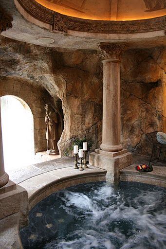 Roman Inspired Hot Tub No Place Like Home In 2019
