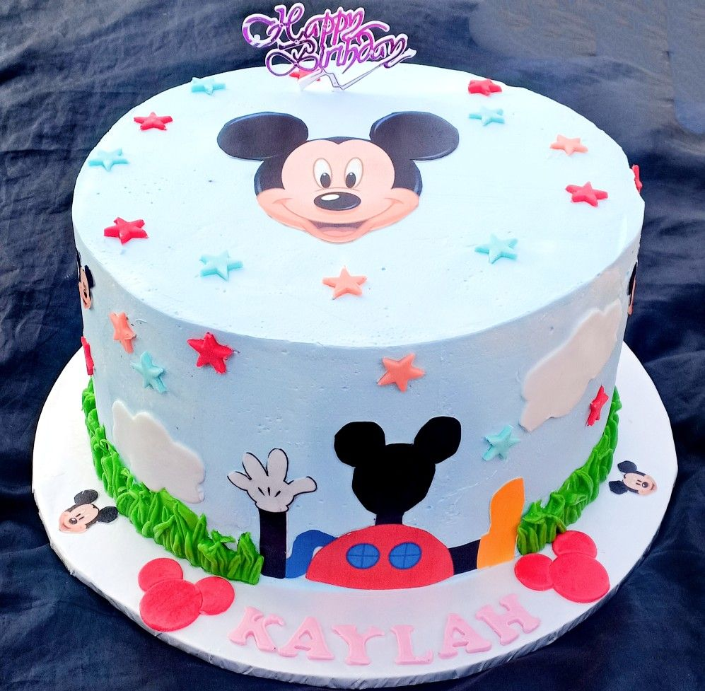 Mickey Mouse Cakes Whipped Cream Cakes Cake Mickey Mouse Cake