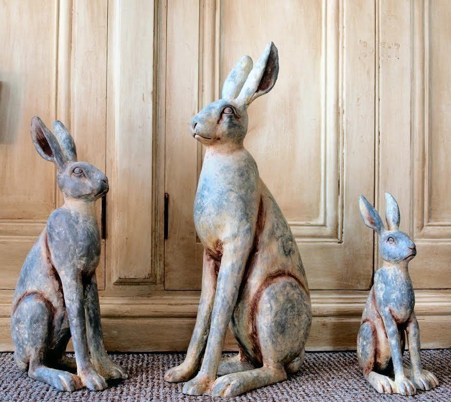 Vintage Outdoor Garden Animal Statues Ornament Resin ...