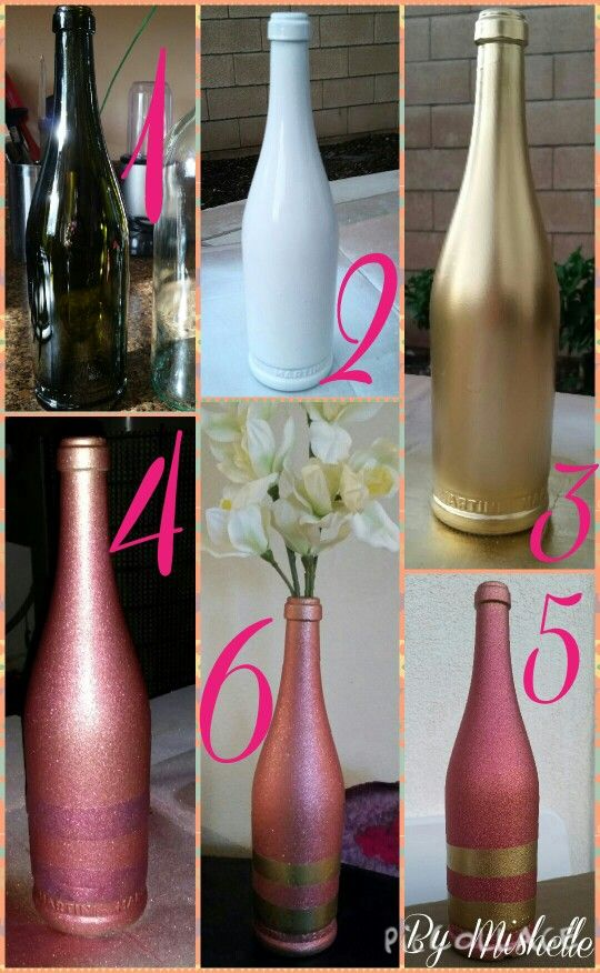Wine Bottle Upcycle DIY by Mishelle (me)