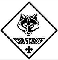 cub scout logo black and white coloring sheet add boys creativity rh pinterest com cub scout vector graphics cub scout wolf logo vector