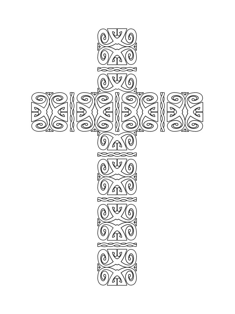 Free Printable Crosses Coloring