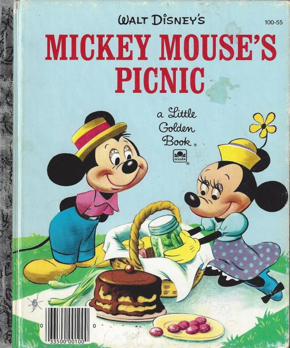 Vintage Walt Disneys Mickey Mouses Picnic A Little Golden Book