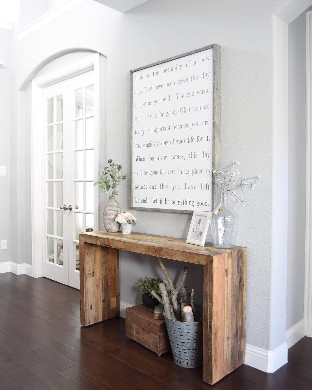 entry, gray walls, grey walls Room wall decor, Wall