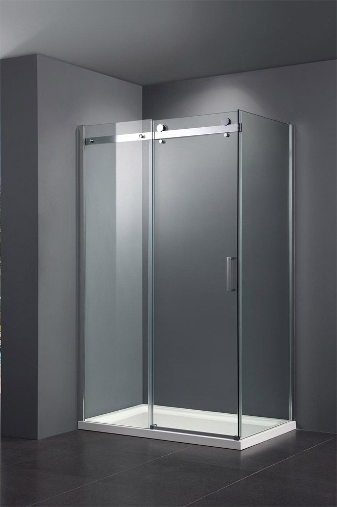 Nova Frameless Sliding Door Panel Enclosure At Victorian Plumbing Uk Shower Doors Frameless Sliding Doors Shower Door Installation