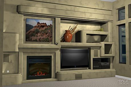 Custom Drywall Entertainment Centers Guesswork With A 3d Design Of Your Home Entertainment