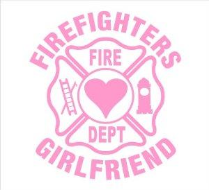 Firefighter Wife Fire Emblem Car Window Decal Maltese Cross Wife Decal Firefighter Girlfriend Decal Mom Love My Firefighter Decal