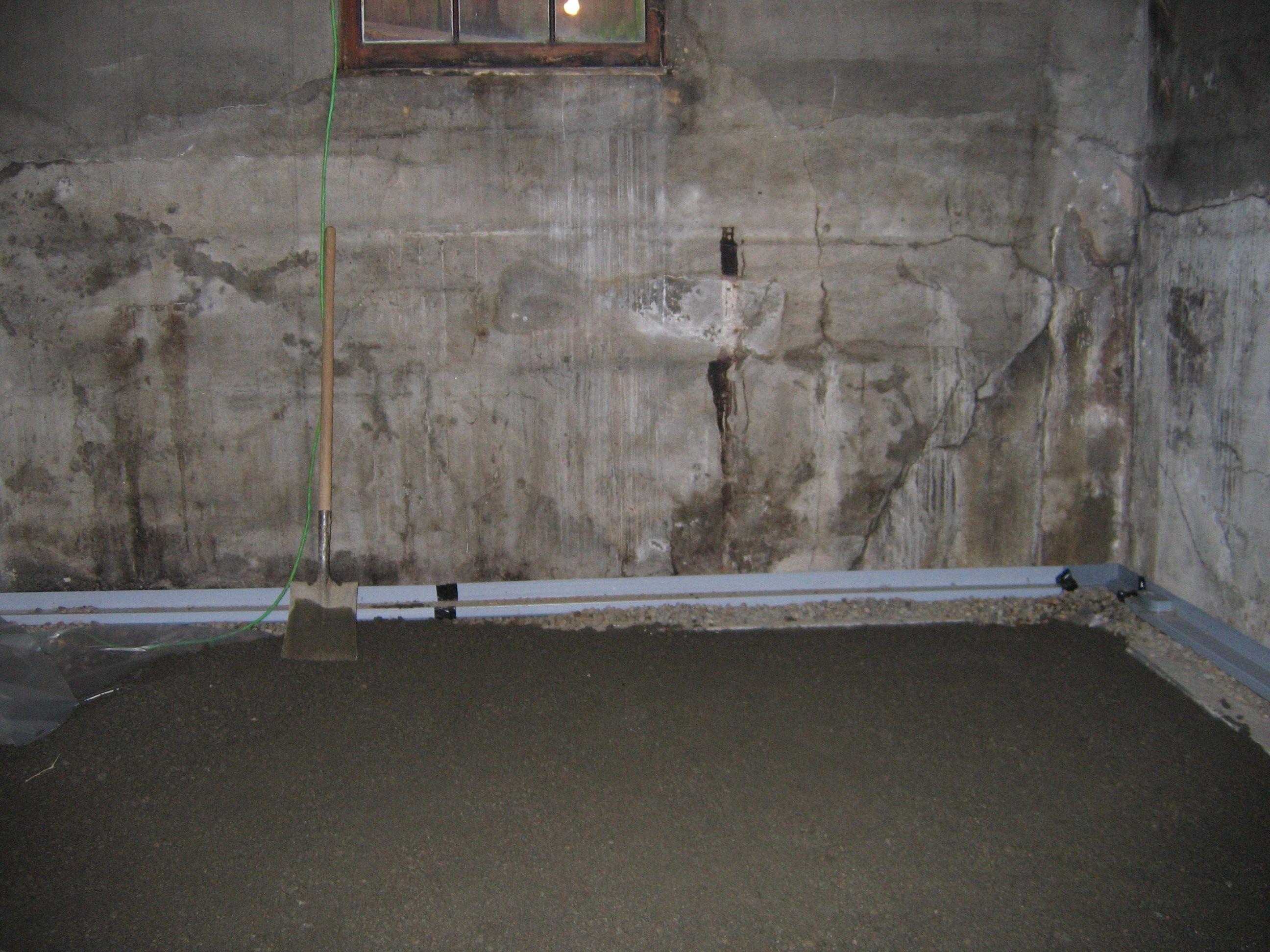 Basement Interior Gutter System