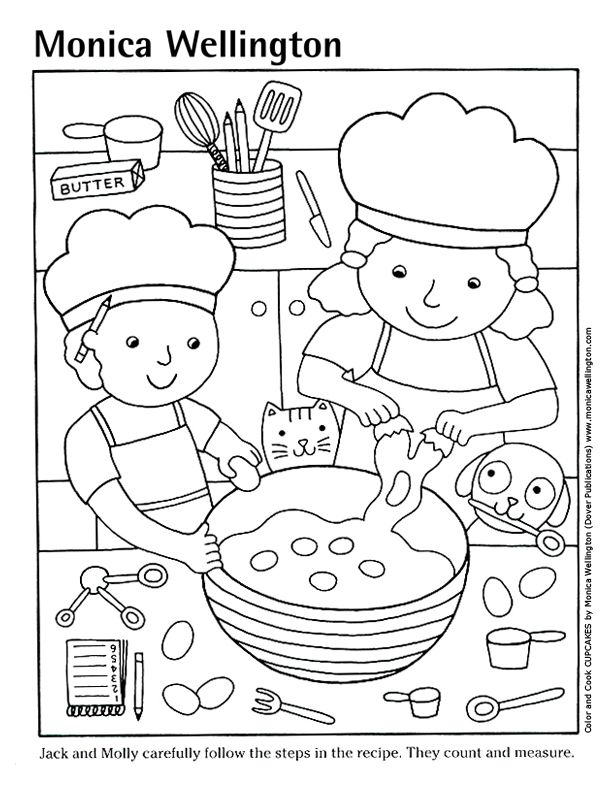 coloring cooking - Google Search | Coloring pages | Pinterest ...
