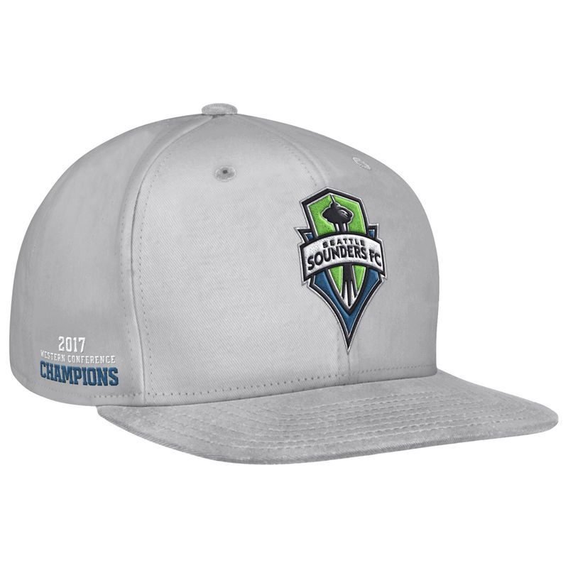 97f622e494c Seattle Sounders FC adidas 2017 MLS Western Conference Champions Snapback  Adjustable Hat – Gray
