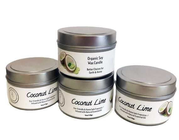 Organic Soy Candle Tins- Wholesale- 4oz Tins- 20 Candles