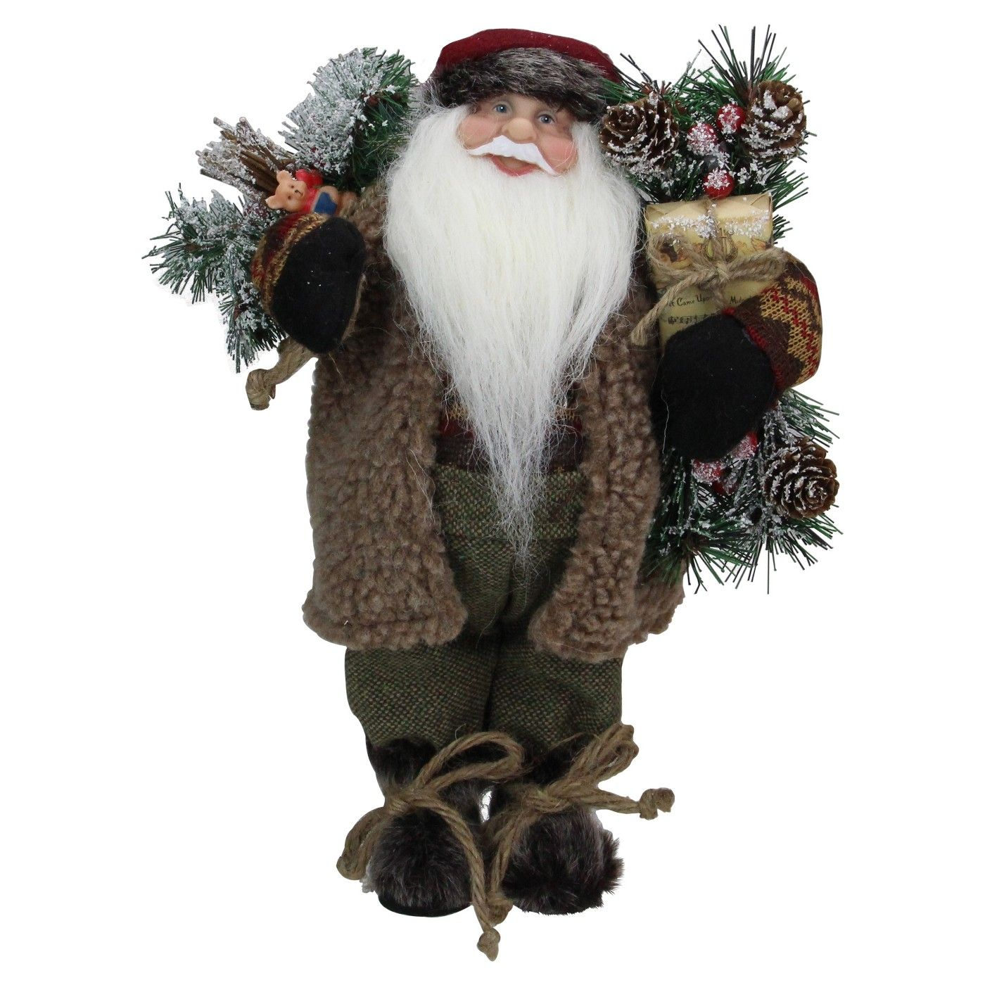 Northlight 12 Country Rustic Standing Santa Claus Christmas Figure Affiliate Country Affiliate Ru Santa Claus Christmas Carols Lyrics Christmas Figurines