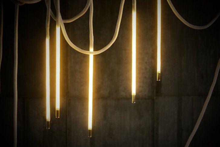 Luke Lamp Co S Handmade Center Pendant Lights Combine Energy Efficient Led Lighting With White Nylon Rope For An Elegant Hanging Form