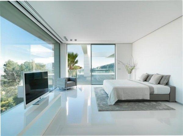 Maison contemporaine de luxe qui change de couleur bien for Maison de luxe contemporaine