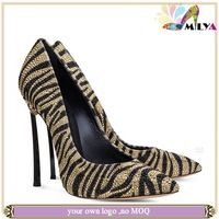 Fashion leather ladies high heels 2014 women pumps leopard party shoes women Sexy!!