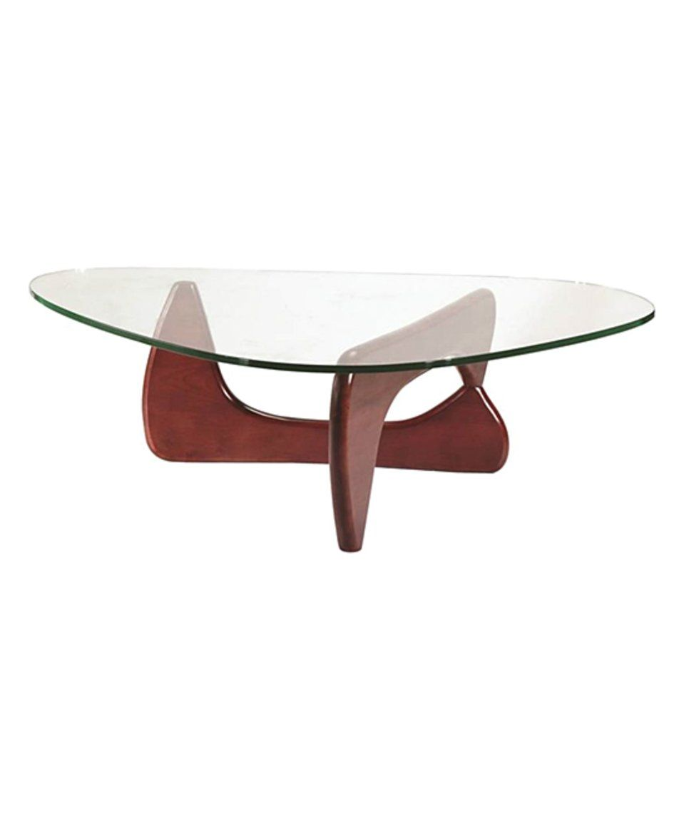Take A Look At This Cherry Finish Rounded Triangle Coffee Table Today Solid Coffee Table Modern Coffee Tables Coffee Table [ 1152 x 959 Pixel ]