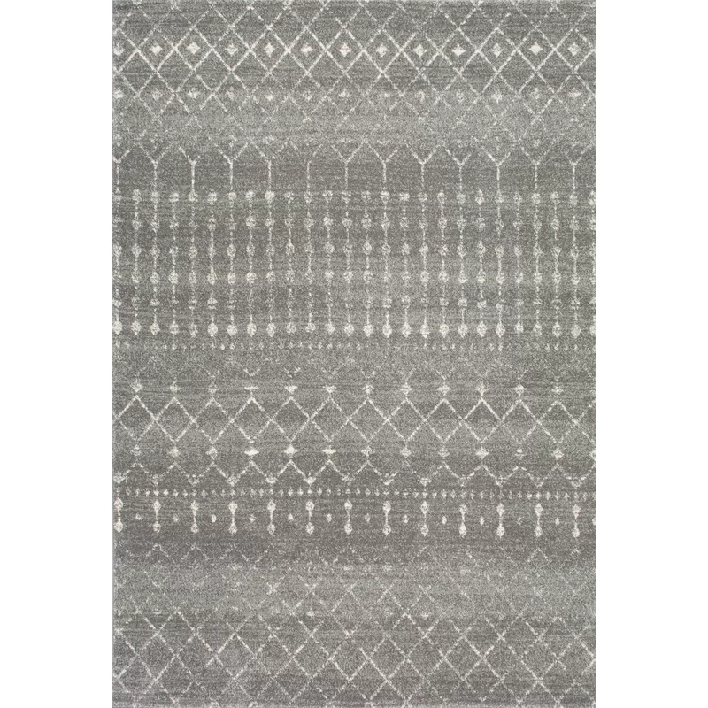 Mistana Clair Geometric Dark Gray Area Rug Reviews Wayfair In 2020 Grey Area Rug Dark Grey Rug Grey Rugs