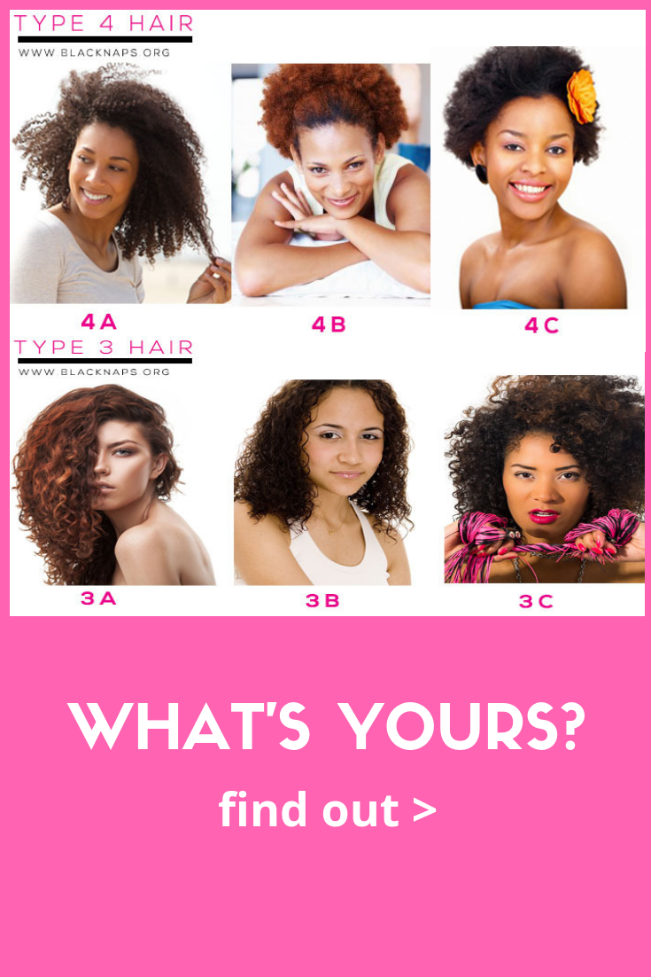 Do You Have 4a 4b Or 4c Hair Type This Quick Quiz Will Tell You Hair Type Chart Black Hair Types Chart Natural Hair Types