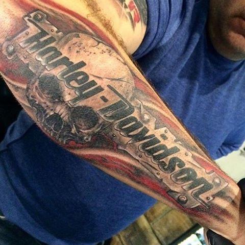 2580a792b harley davidsonunique items for women | Amazing Harley Davidson Skulls  Tattoo On Forearm For Men