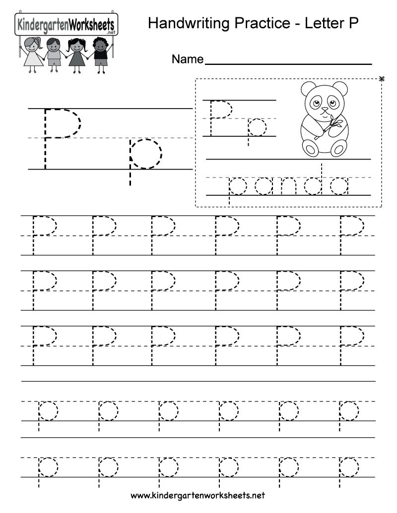 Kindergarten Letter P Tracing Worksheet In 2020 Writing Practice Worksheets Letter P Worksheets Alphabet Worksheets