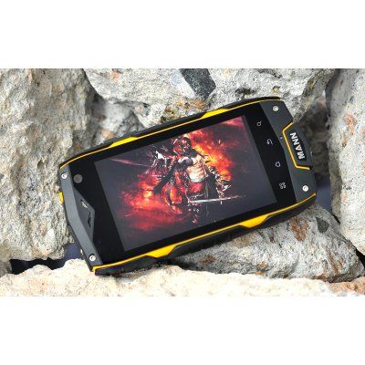 """Rugged Android Phone """"Mann A18"""" - 4 Inch Screen, Snapdragon Dual Core CPU, IP68 Waterproof, Shockproof, Dustproof"""
