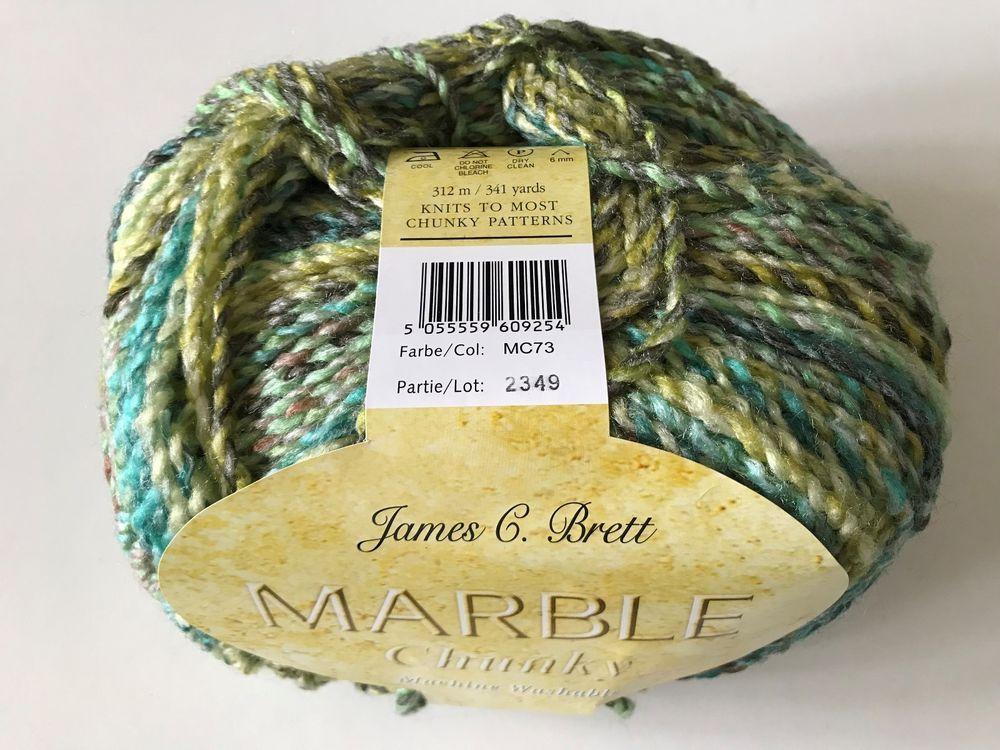 MC73 James C Brett  Marble Chunky Knitting Wool Yarn 200g