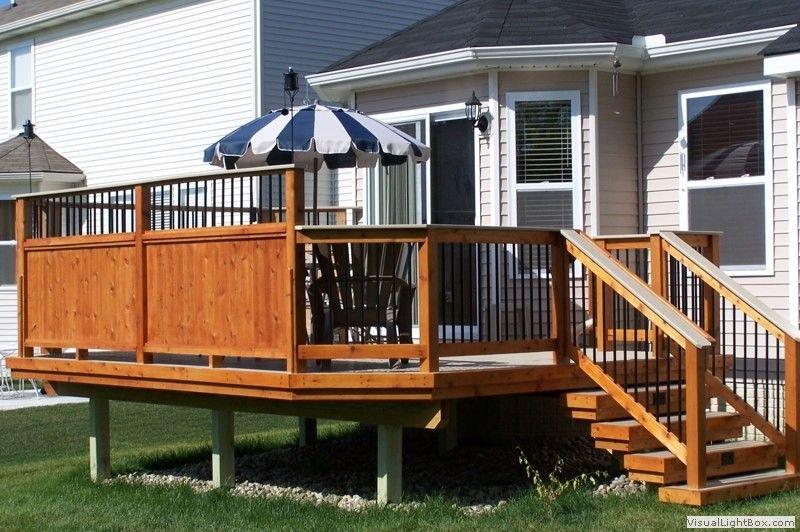 Above Ground Pool Privacy Screen southeastern michigan custom & new decks photo gallerygm