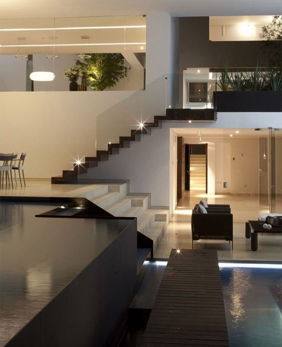 Amazing House With A Inside Pool Mexico City Tag An Architecture ...