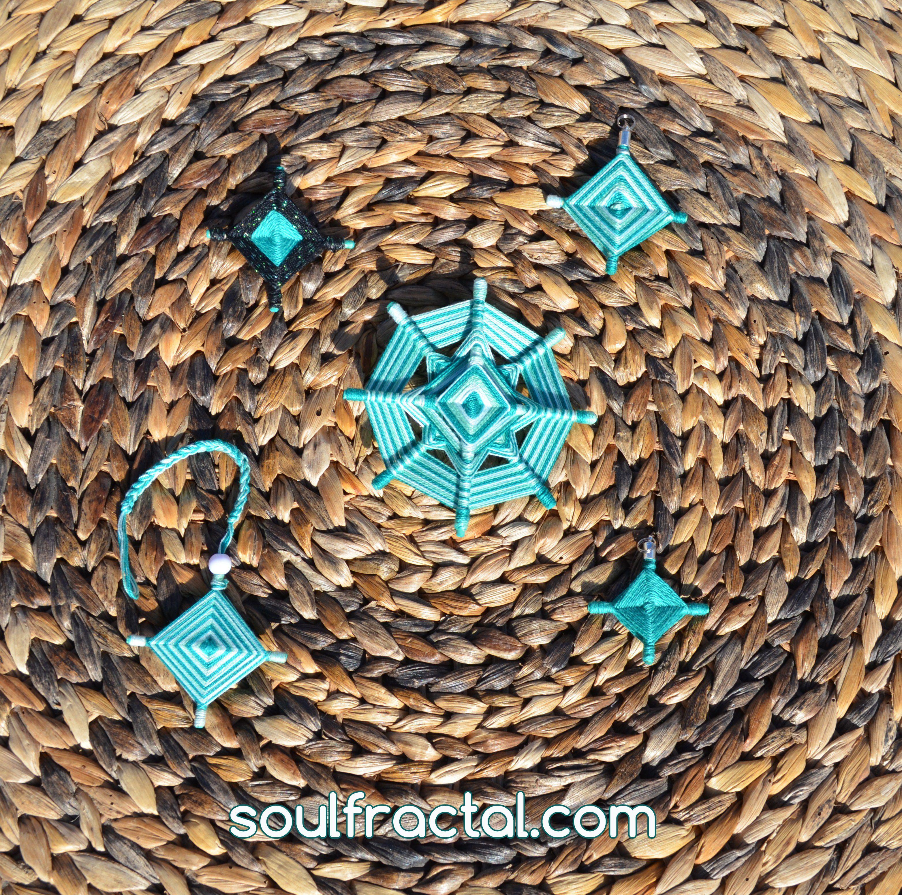Mandala 8 puntas y Ojos de dios doble cara de 4 puntas tejido con hilo de algodón egipcio ❥Paz y Serenidad al instante.  + Descripción en web ツ #talismán #meditación #relajación #mandalas #creatividad #color #luz #serenidad #unidad #protección #magia #decoración #espitritualidad #arte #ArteSano