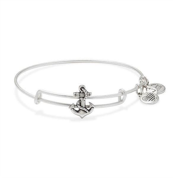 Alex and Ani Anchor bangle. When you lower an anchor in choppy waters, you are secured by a steadfast force. The anchor provides a sense of freedom: it keeps you grounded, empowering adventure.