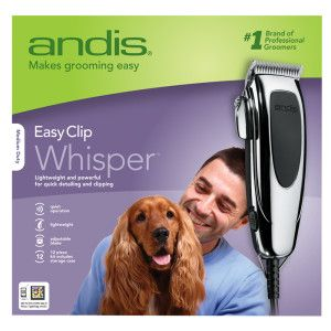 Andis Easyclip Whisper Pet Hair Clippers Dog Clippers Dog Grooming Supplies Grooming