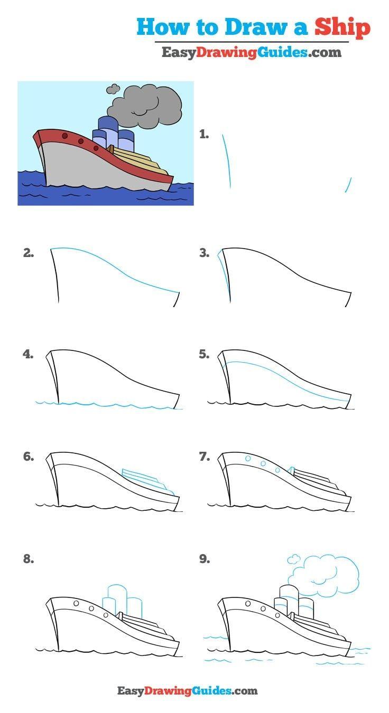 How To Draw A Ship Really Easy Drawing Tutorial Deniz 画 人物
