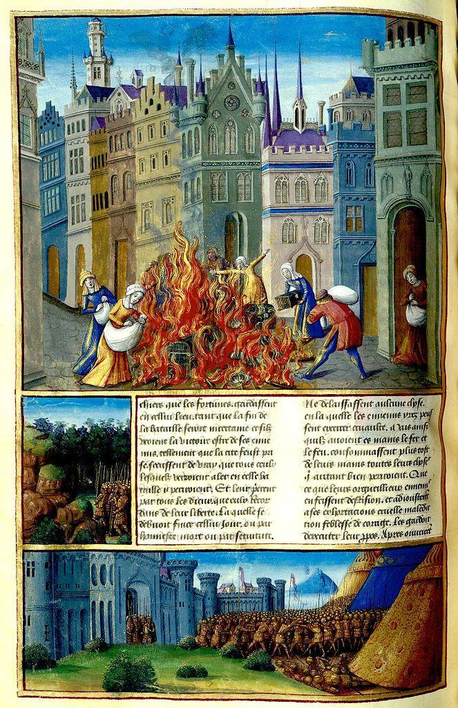 Romuléon - BnF - Bataille d'Astapa (XVe siècle)
