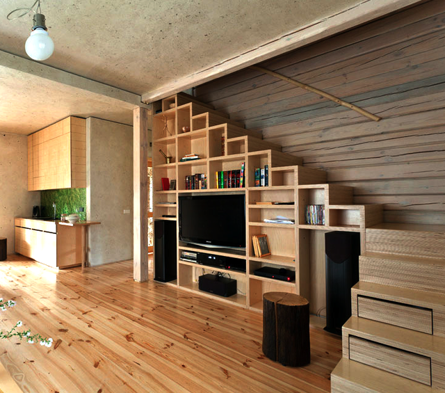18 Loft Staircase Designs Ideas: Home In The Log Cabin By Ryntovt Design In 2019