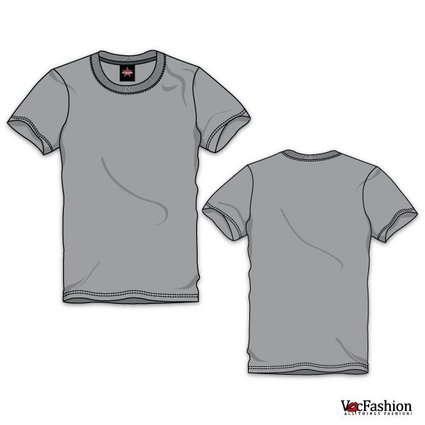 Download Mens Round Neck T Shirt Vector Template Vecfashion Print Clothes Mens Fashion Illustration Fashion Degrees