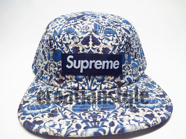 e802c3be5 Details about SUPREME FLORAL SUEDE CAMP CAP BEIGE / RED BOX SS12 ...