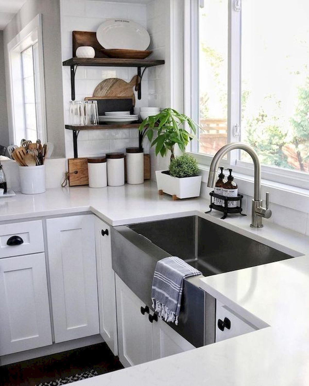50 Beautiful Farmhouse Kitchen Sink Design Ideas And Decor 1