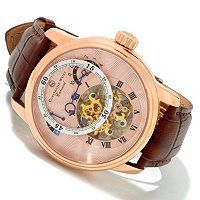 Constantin Weisz Men's Carousel Limited Edition Automatic Leather Strap Watch w/ Six-Slot Watch Box ShopNBC.com