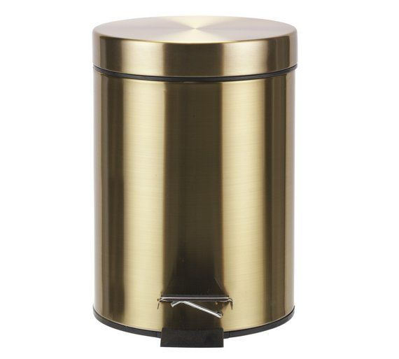 Buy Collection 3 Litre Pedal Bin - Gold at Argos.co.uk ...