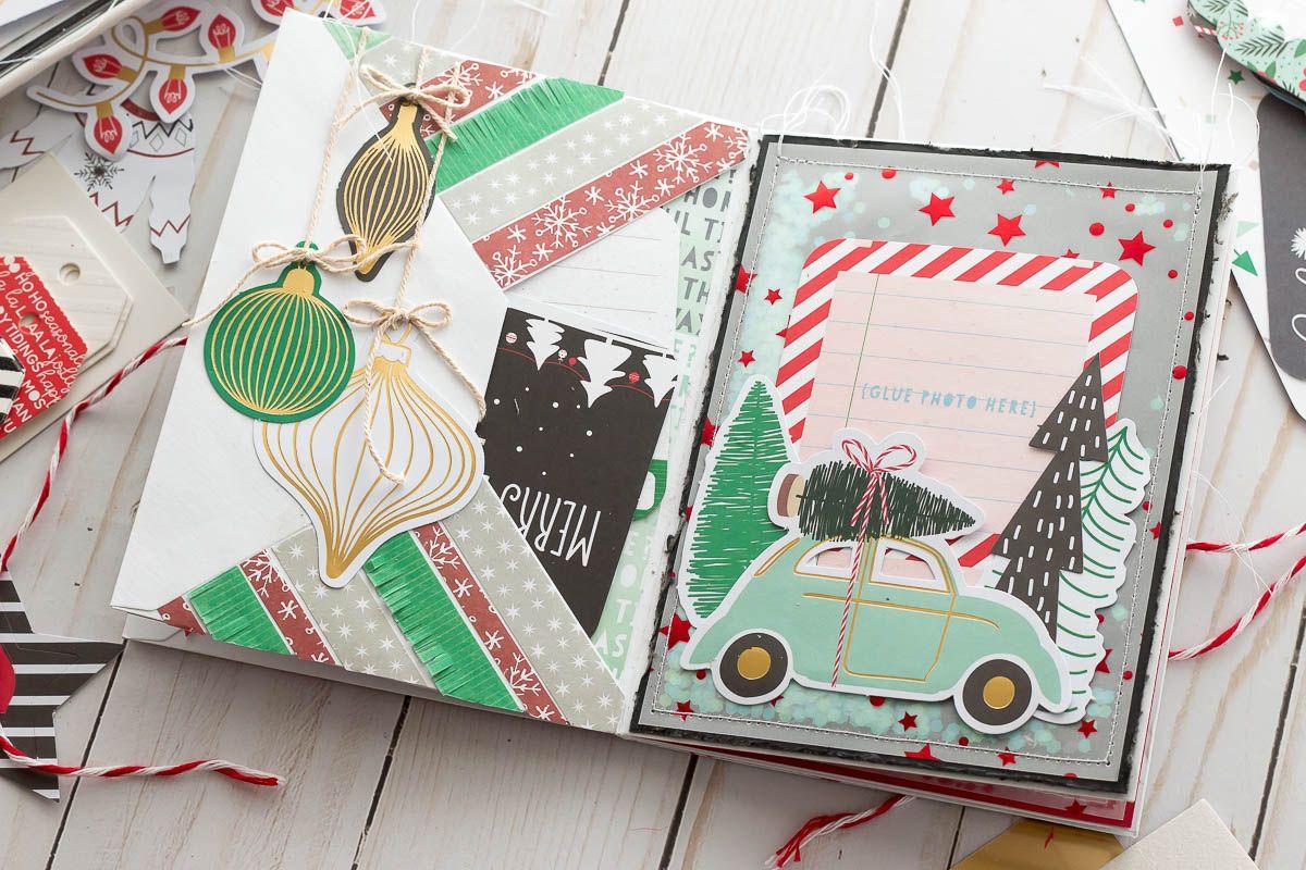Mini Christmas Album Spellbinders Merry Everything