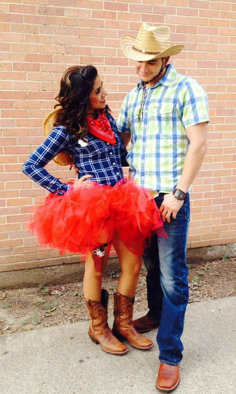 Cowgirl Kleid Western Rodeo Kostüm Karneval Verkleidung Cowboy Größe S
