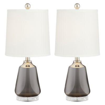 Pacific Coast Lighting Gl Table Lamps In Smoke Grey Set