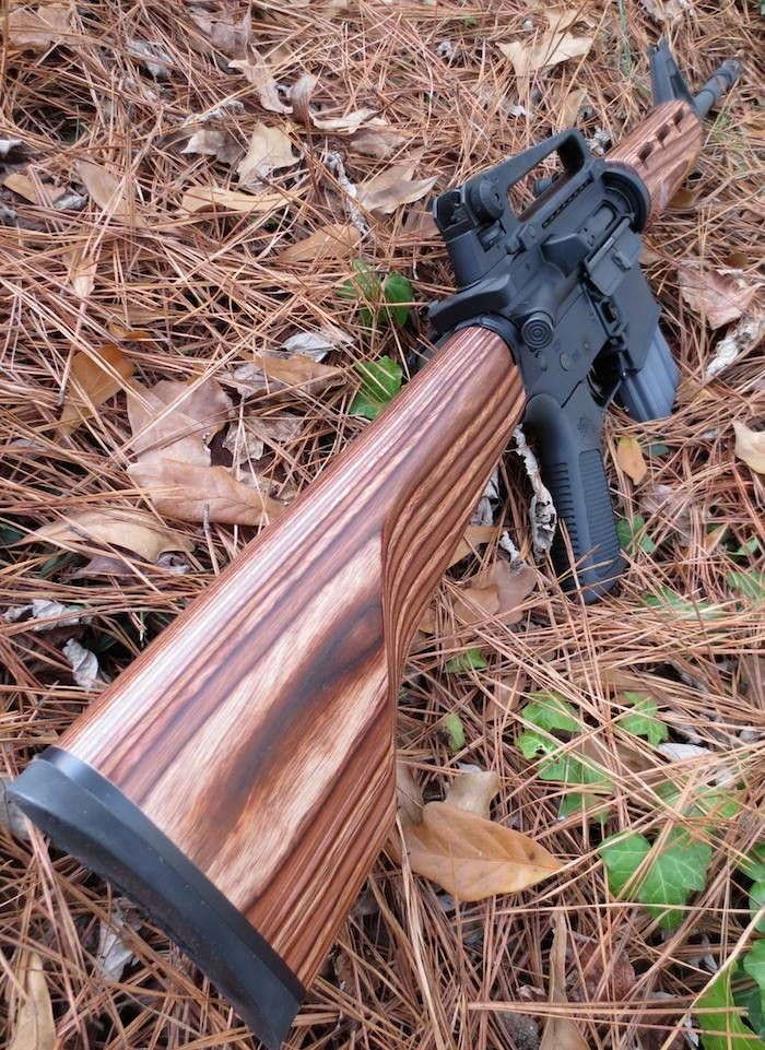 how to make a rifle stock from wood