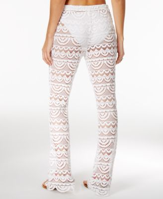 afeba9eaef366 Miken Scalloped Crochet Cover-Up Pants - White XS | Products ...