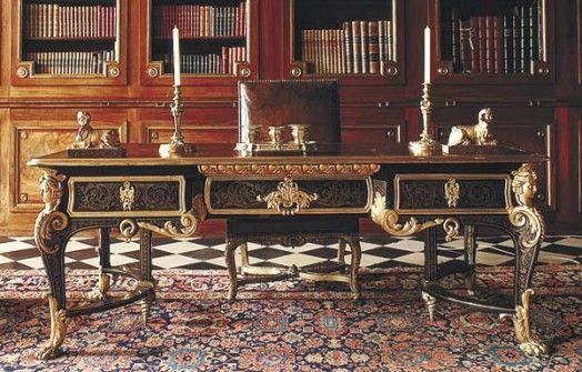 A C Boulle Mobilier De France Grand Bureau Vaux Le Vicomte