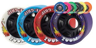 Zoom  Sure-Grip's replacement speed wheel in a multitude of colors.  Nylon core. http://www.shop.rollwithitct.com/Sure-Grips-Zoom-Quad-Speed-Wheels-SESSGZQSW.htm