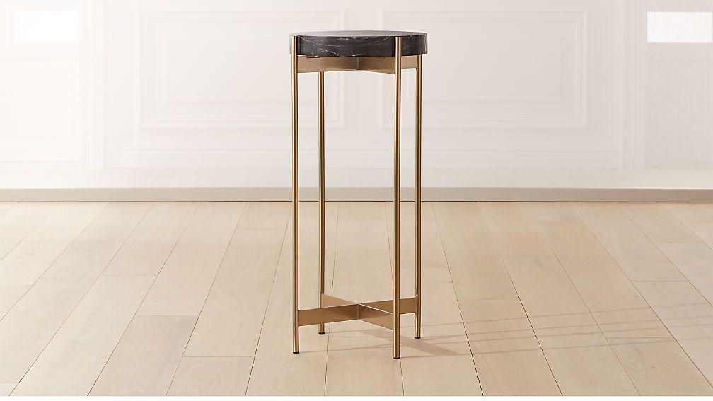 Block black marble pedestal table black marble marble